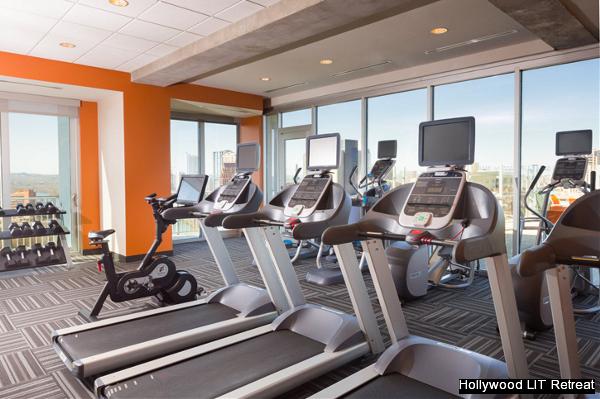 Hollywood LIT Urban Austin Retreat Fitness Center