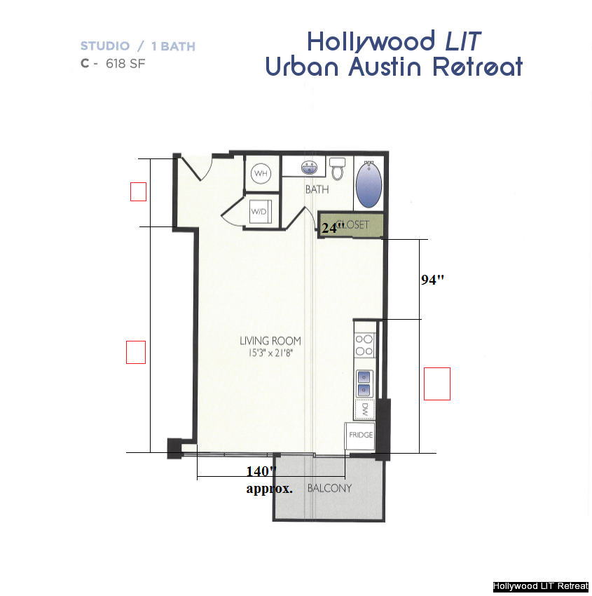 Hollywood LIT Urban Austin Retreat Layout