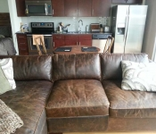 Hollywood LIT Urban Austin Retreat Magnussen Home Leather Sofa